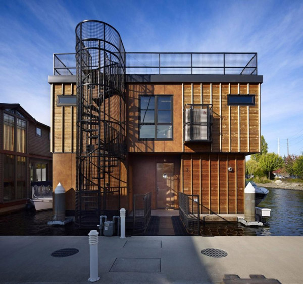 floating lake house boat inspired living 2 Floating Lake House, Boat Inspired Living