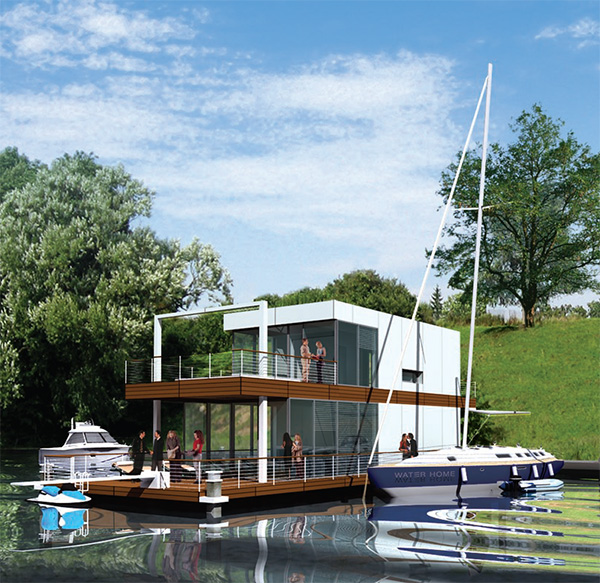 floating water home poland