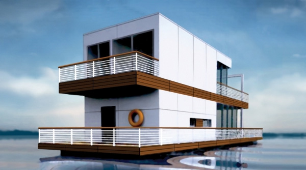 floating water home Floating home from Poland – Totally Deluxe, Modern and Mobile Water Home