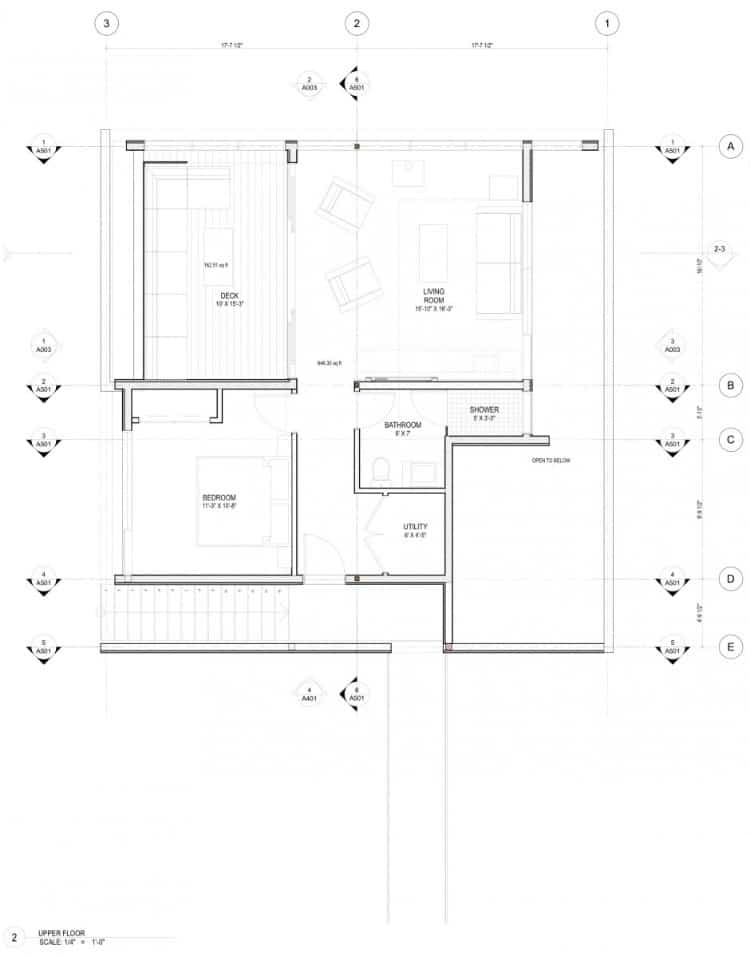 Floating cabin with integrated boathouse for Floating house floor plans