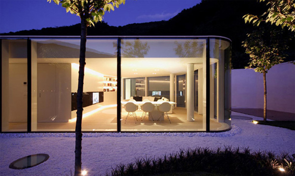 futuristic glass architecture modern switzerland house 1