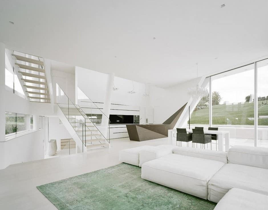 Futuristic Minimalist Family House