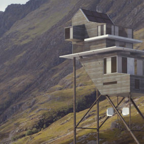Futuristic Self-Sustaining House Concept On Stilts