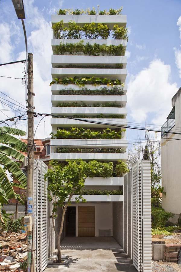 Garden Home Architecture in Saigon