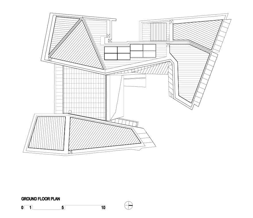 geometric-beach-house-with-zinc-exterior-wood-interior-17 Maze Floor Plan House on maze blueprints, maze house hatfield hertfordshire, maze house interior,