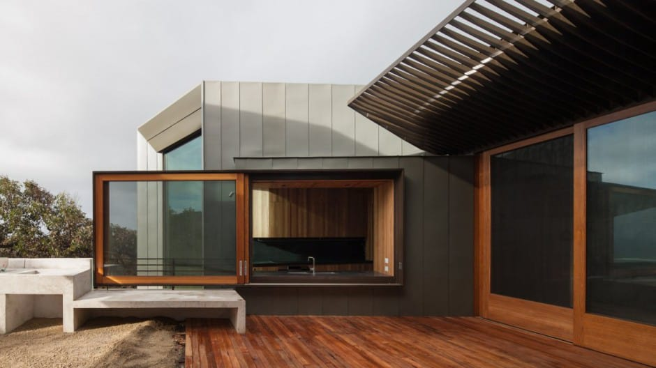 Geometric Beach House With Zinc Exterior Wood Interior