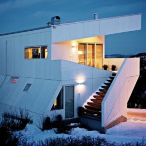 Geometric Norwegian House With Creative Interior Fixtures