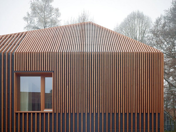 german wood clad house small but smart 2