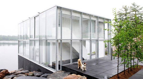 glass cube house canadian lakehouse 1 Glass Cube House – Canadian Lakehouse