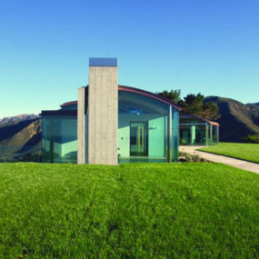 Glass House Architecture in Sunny California