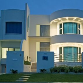 Contemporary mediterranean coast villa for Ultra modern house designs australia