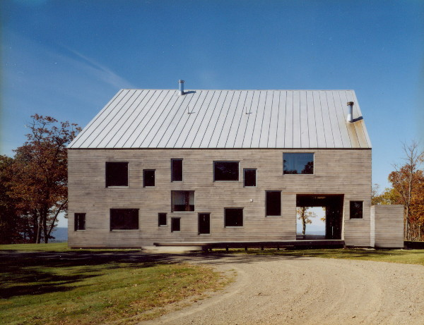 goodman house 3 Modern Barn Home   Dutch Barn Frame within a home, transported & restored!