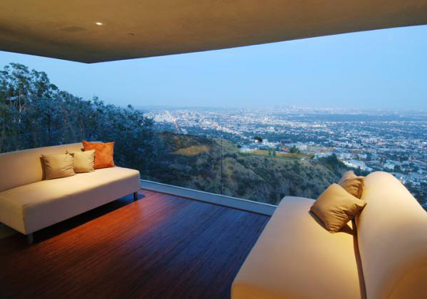 grand view house 2 Designer House in Hollywood Hills   priceless panoramic city to ocean views for $5 million