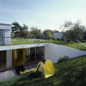 Underground house design in the greek isles for Underground house design