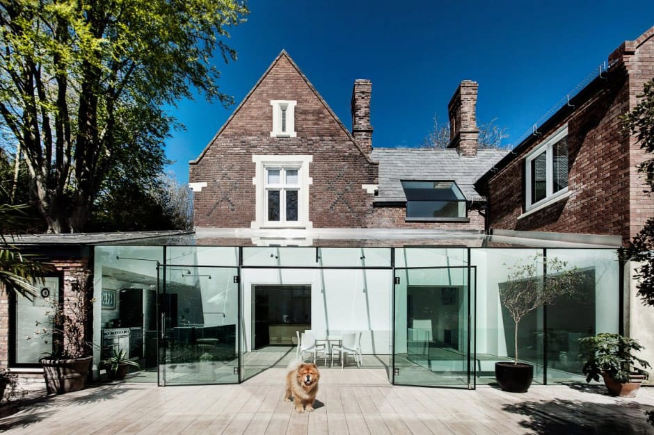 Old House Gets An All Glass Extension - Interesting-old-house-design