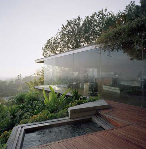 hollywood residence 1 Glass Wall Home in the Hollywood Hills