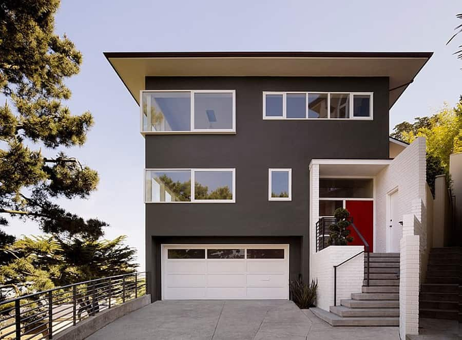 Home updated with modern interiors rooftop garden and for Modern window designs for homes