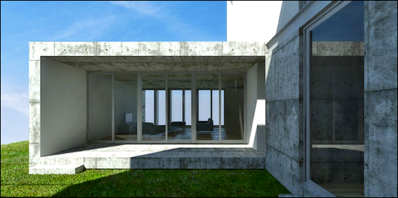 horizontal architecture houses portugal 4 Horizontal Architecture Houses   Cool, Contemporary Concrete in Portugal