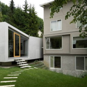 Modern Home Addition is … in the garden