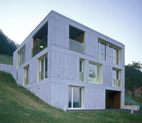 Concrete Home Design In Switzerland Modern Concrete Moves Into Rural