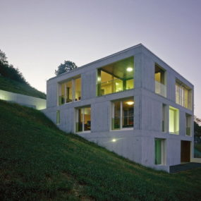 Concrete Home Design in Switzerland – modern concrete moves into rural!