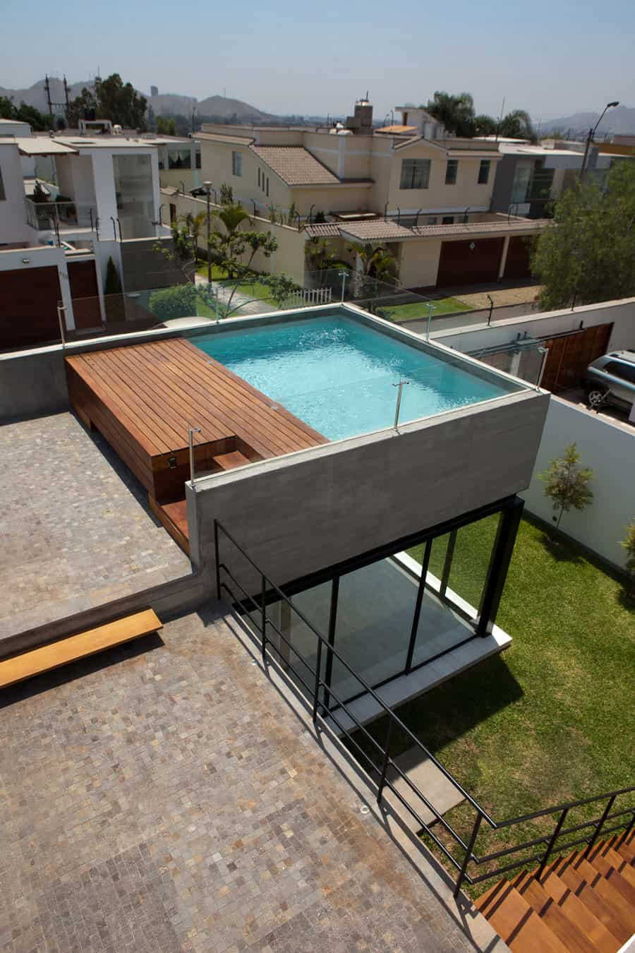 Wonderful Modern House Plans With Rooftop Pool Part - 4: View In Gallery House-with-detached-glass-walled-living-area-9-