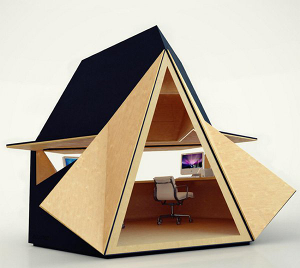 View In Gallery Innovative Small House Plans Home Office Space 2 Innovative  Home Office Space In .
