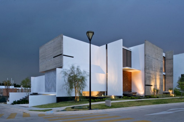 View In Gallery Interesting House Facade Modern Mexico Design 1 For