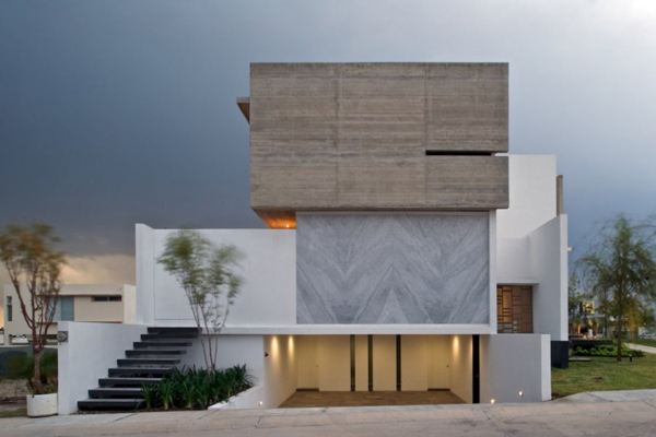 View in gallery interesting house facade modern mexico design 2 Interesting  House Facade for Modern Mexico Design