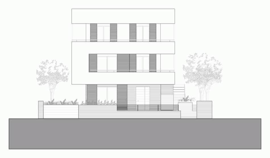 Italian maze house with geometric exterior, sliding interior walls