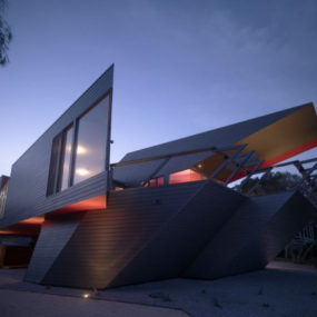 Holiday Beach House Design: everything shaped as 'K'