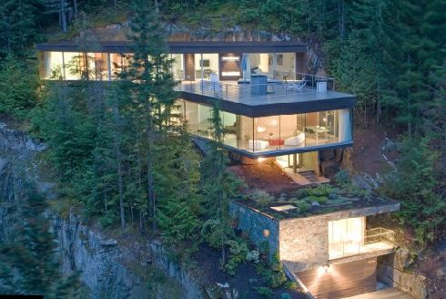 khyber ridge residence 1 Mountain Chalet is built into the mountain, for a snowboarding pro Marc Morisset