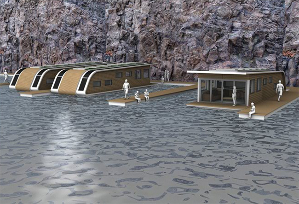 kingsley mobile floating 1 Eco Friendly Mobile Floating Architecture   off the grid solar home