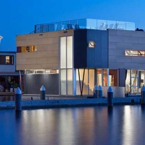 Floating Home by Vandeventer + Carlander Architects – Luxury Living on Lake Union, Seattle