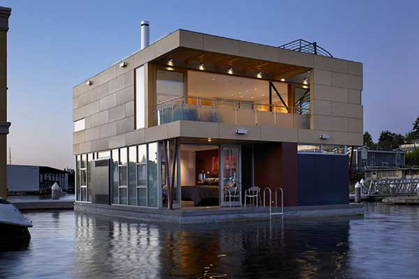 lake union floating home 6 Floating Home by Vandeventer + Carlander Architects   Luxury Living on Lake Union, Seattle
