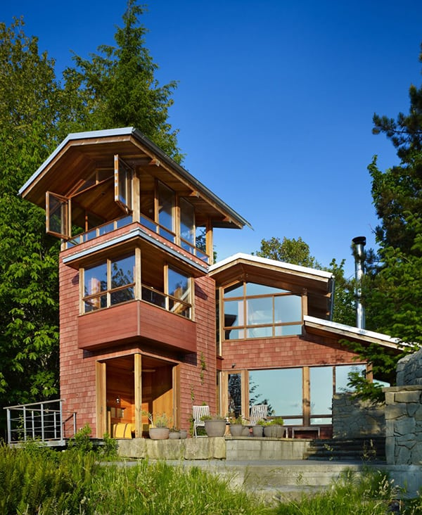attractive lakefront home designs #5: Lakefront Cottage Design Idea: observation loft