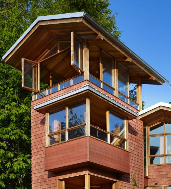 Lakefront cottage design idea observation loft for House plans with observation deck