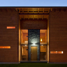 Laminated Pinewood House by Nordicasa Design & Construction. We love it!