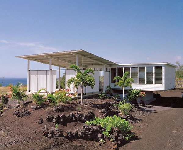 Small cottage design with large covered deck in hawaii for Home plans hawaii