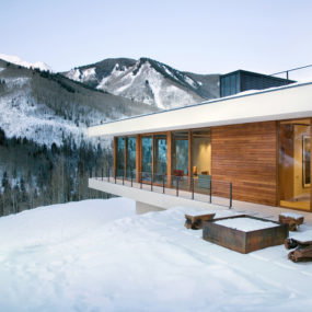 Linear Mountain House of Wood, Glass and Chalet Charm
