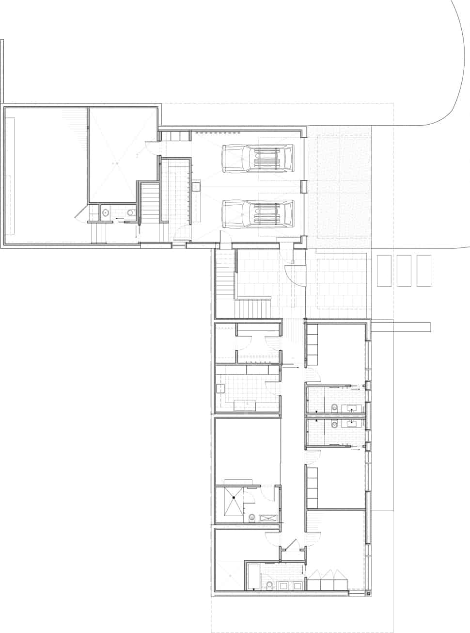Linear Mountain House Of Wood Glass And Chalet Charm - Mountain house floor plans
