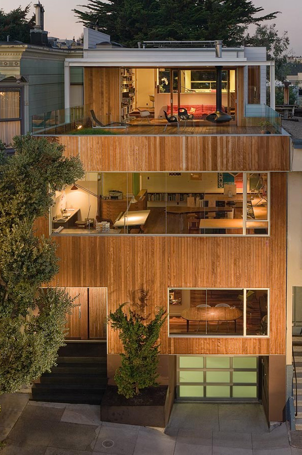 Live / Work House Plan in San Francisco for Modern Architect
