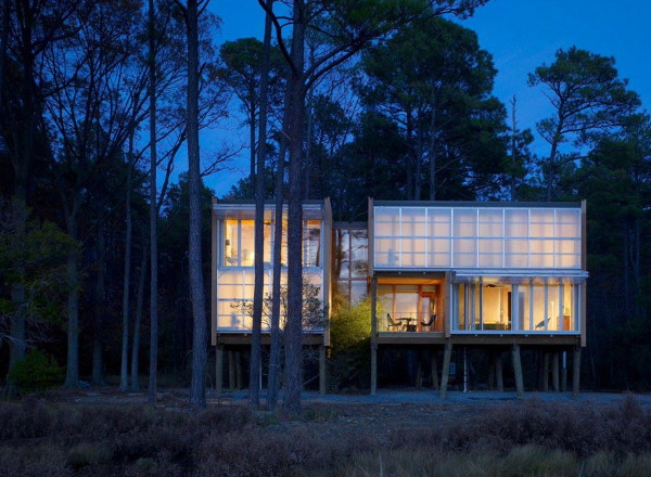 loblolly house 1 Prefab House Design in Maryland   Stunning, Stilted, Sustainable Loblolly by Kieran Timberlake Architects