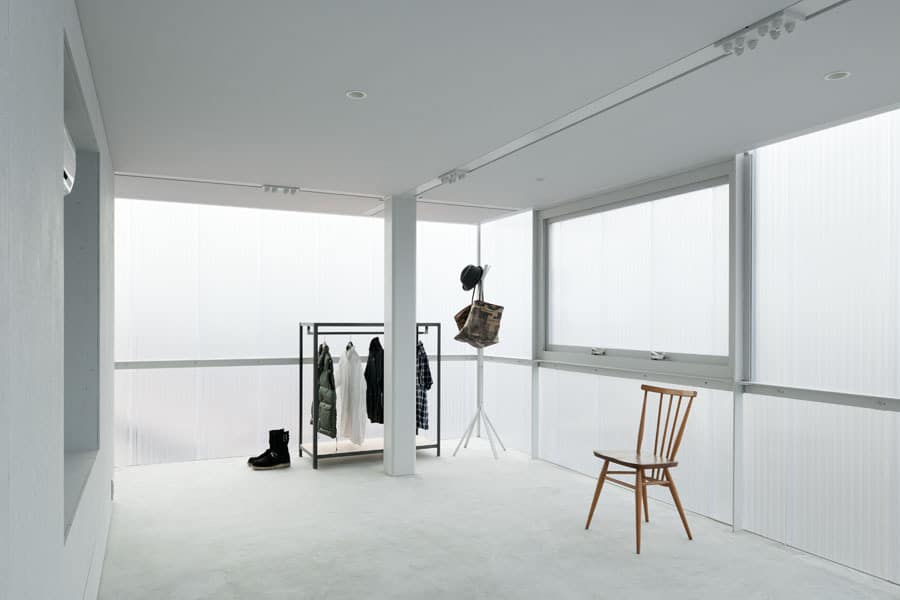 House with translucent walls and minimalist design for Minimalist lifestyle