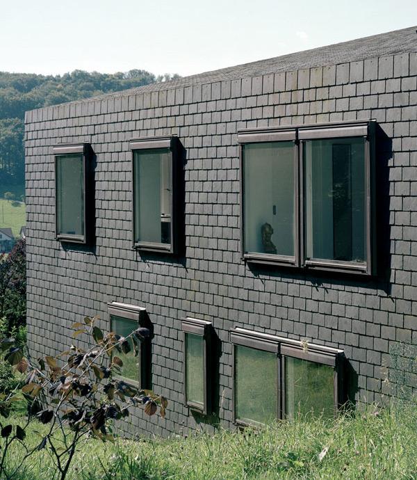 lupsingen house 2 Horizontal House in Switzerland with Interior Courtyard
