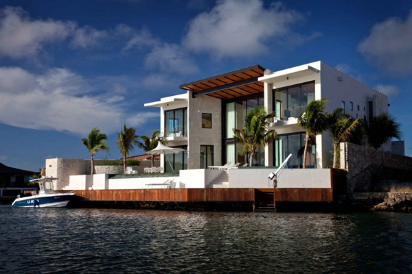 Luxury coastal house plans on florida island paradise for Oceanfront house plans
