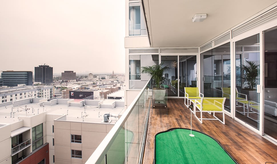 Luxury Hollywood Penthouse with Chic Game Room Replacing Bedroom