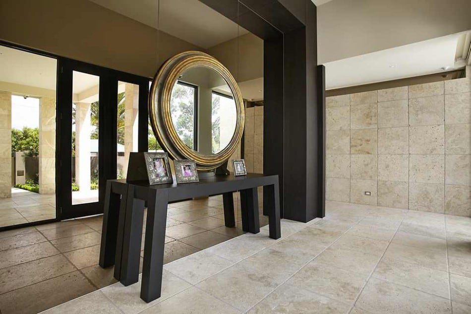 Story Foyer Mirror : Luxury melbourne home with pillared entry and interior
