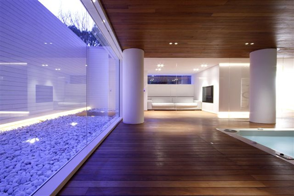Luxury indoor pool house design by jm architecture for Modern house designs with indoor pool