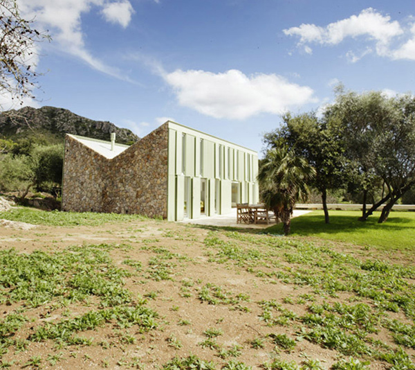 mallorca weekend house 1 Stone Farmhouse Home Design with Rustic Cottage Style Exterior, in Spain